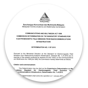 Commission Determination on the Mandatory Standard for Electromagnetic Field Emission from Radio-communications Infrastructure