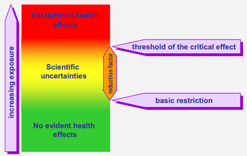 Levels At Which Adverse Health Effects Have Been Elished The Wide Safety Margin Ensures That Any Increase In Body Tissue Temperature Is Negligible